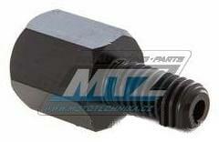 Obrázek produktu Adaptér zrcátka 10mm Levý závit vnější / 10mm Levý závit vnitřní (barva černá) (ni6905203) NI6905203