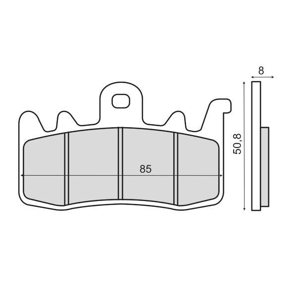 Obrázek produktu Brzdové destičky RMS sintered