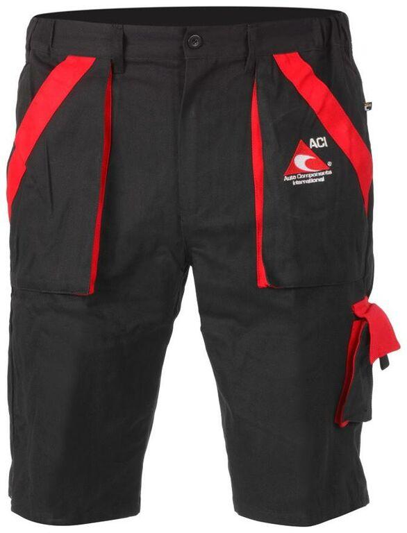 Obrázek produktu Pracovní kalhoty ACI montérky černočervené krátké 12136