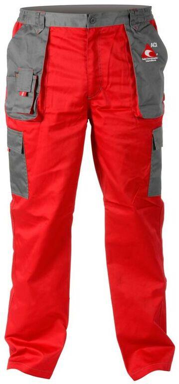 Obrázek produktu Pracovní kalhoty ACI montérky červenošedé letní  12162