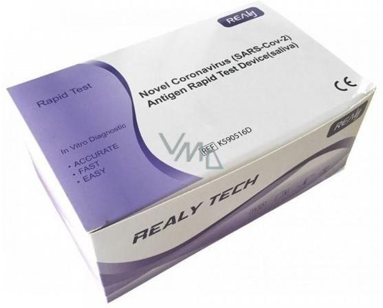 Obrázek produktu antigenní test Novel Coronavirus Antigen Rapid Test ze slin balení 20 ks (výjimka MZCR Č. j.:  MZDR 7697/2021-4/OLZP)