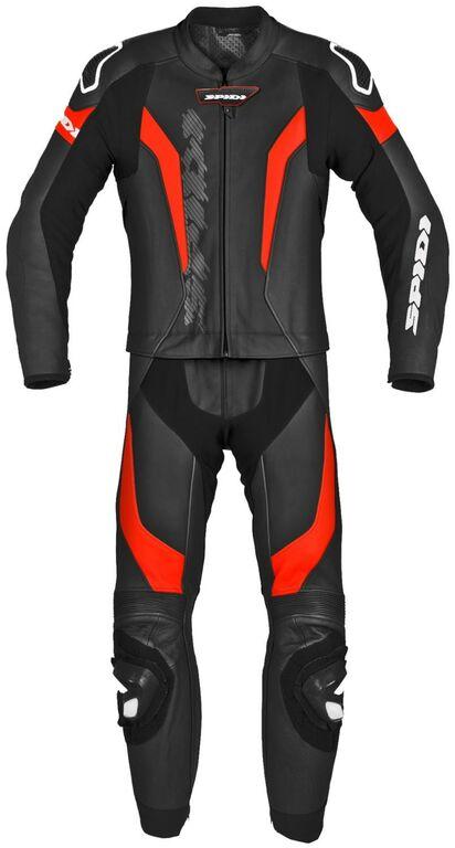 Obrázek produktu dvoudílná kombinéza LASER TOURING, SPIDI (černá/fluo červená) Y155-021