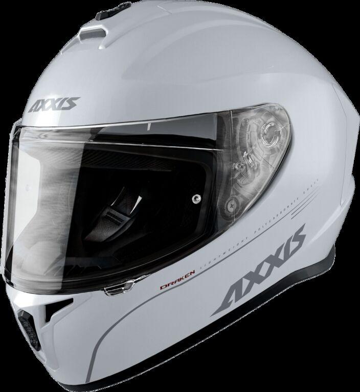 Obrázek produktu Integrální helma AXXIS DRAKEN ABS solid bílá lesklá M 425200001005
