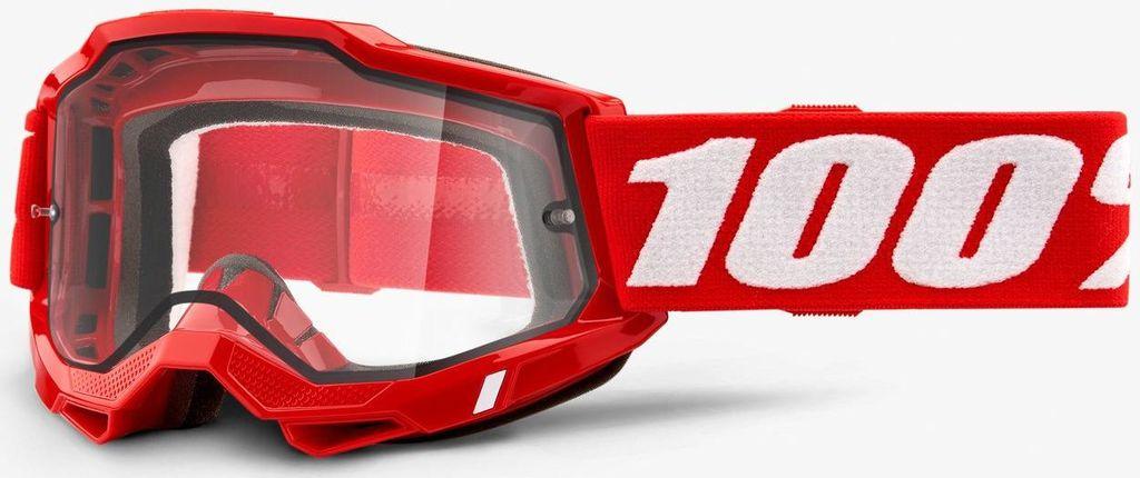Obrázek produktu ACCURI 2 100% - USA , ENDURO brýle červené - čiré plexi 50221-501-03