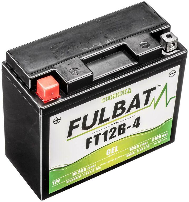 Obrázek produktu baterie 12V, FT12B-4 GEL, 12V, 10Ah, 210A, bezúdržbová GEL technologie 150x69x130 FULBAT (aktivovaná ve výrobě)