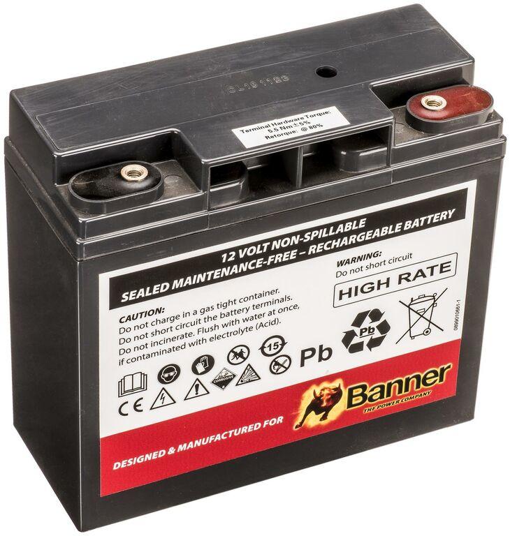 Obrázek produktu 23Ah baterie AGM /náhradní baterie pro start.boostery PB 12V 2300A, PB 12/24V 2300/4600A/ 1220001904