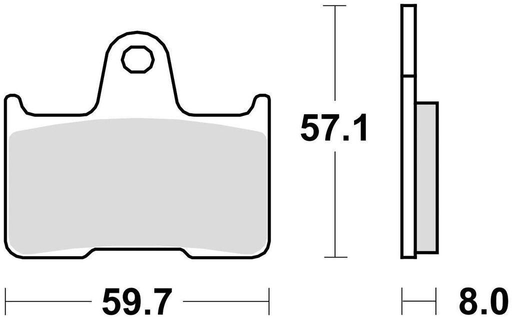 Obrázek produktu brzdové destičky, BRAKING (sinterová směs CM88) 2 ks v balení