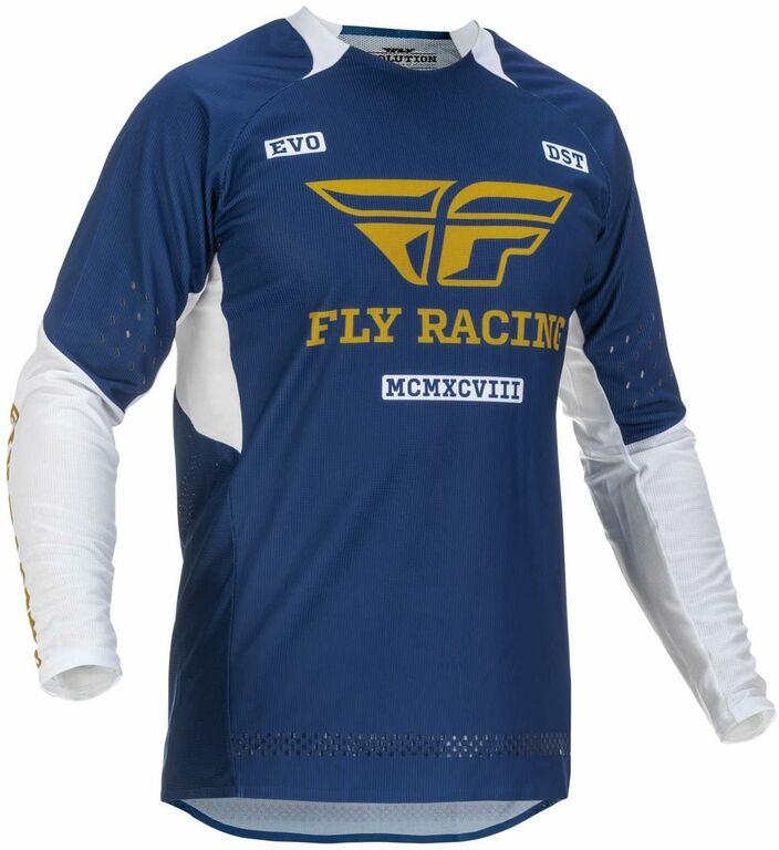 Obrázek produktu dres EVOLUTION DST. FLY RACING - USA 2022 (modrá/bílá/zlatá) 375-123