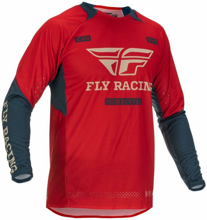 Obrázek produktu dres EVOLUTION DST. FLY RACING - USA 2022 (červená/šedá) 375-125