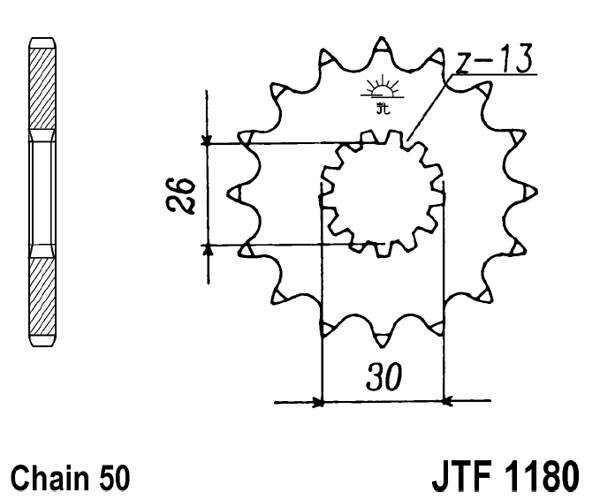 Obrázek produktu Řetězové kolečko JT 19 zubů, 530 rubber cushioned