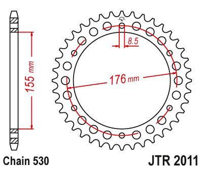 Obrázek produktu Řetězová rozeta JT 42 zubů, 530