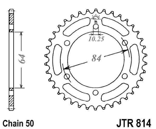 Obrázek produktu Řetězová rozeta JT 45 zubů, 530