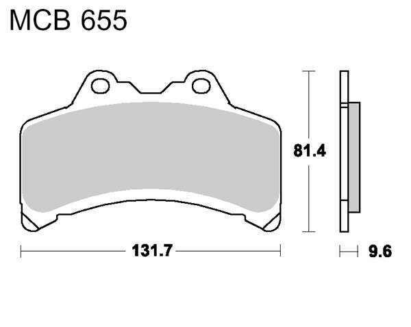 Obrázek produktu Brzdové destičky LUCAS organické
