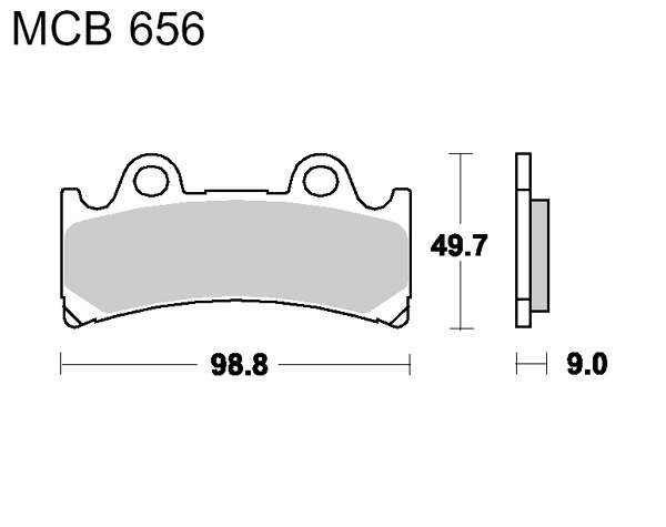Obrázek produktu Brzdové destičky LUCAS SV