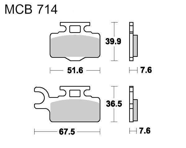 Obrázek produktu Brzdové destičky LUCAS SI