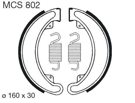 Obrázek produktu Brzdové čelisti LUCAS MCS 802