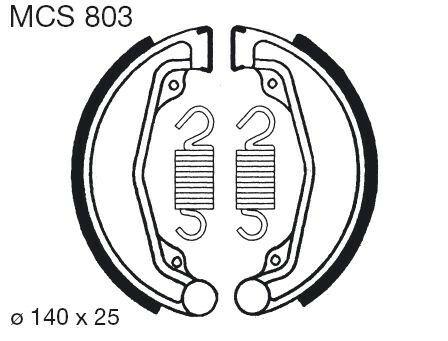 Obrázek produktu Brzdové čelisti LUCAS MCS 803