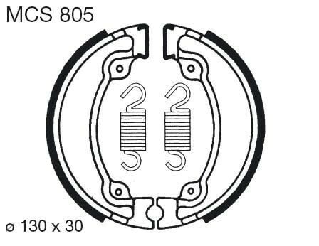 Obrázek produktu Brzdové čelisti LUCAS MCS 805