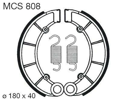 Obrázek produktu Brzdové čelisti LUCAS MCS 808
