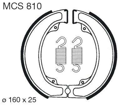 Obrázek produktu Brzdové čelisti LUCAS MCS 810
