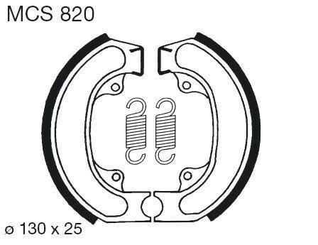 Obrázek produktu Brzdové čelisti LUCAS Zadní; CN 250 Helix-Fusion