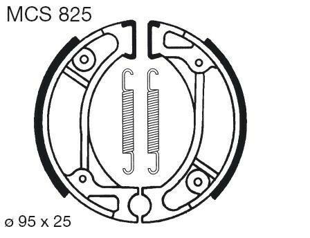 Obrázek produktu Brzdové čelisti LUCAS Přední i zadní