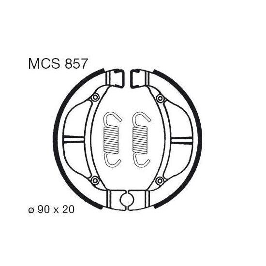 Obrázek produktu Brzdové čelisti LUCAS Přední, zadní