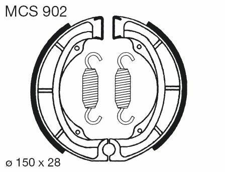 Obrázek produktu Brzdové čelisti LUCAS Zadní LT-F - Quadrunner