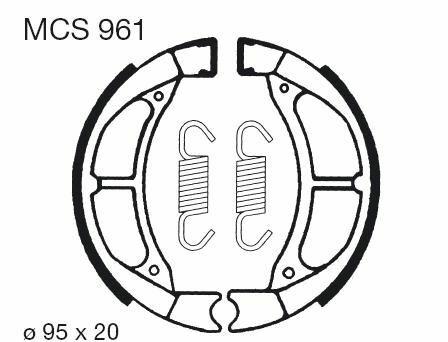Obrázek produktu Brzdové čelisti LUCAS Přední