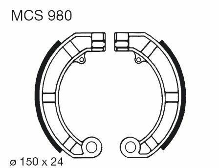 Obrázek produktu Brzdové čelisti LUCAS Zadní PX - (Vespa)