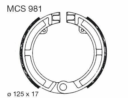 Obrázek produktu Brzdové čelisti LUCAS Přední PK - S, XL