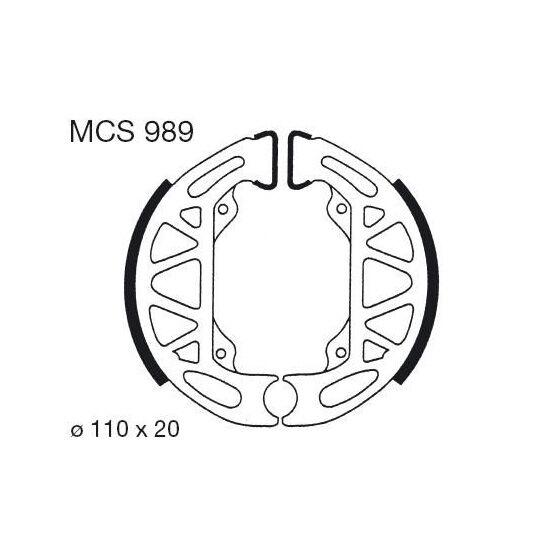 Obrázek produktu Brzdové čelisti LUCAS Zadní NTT - LC