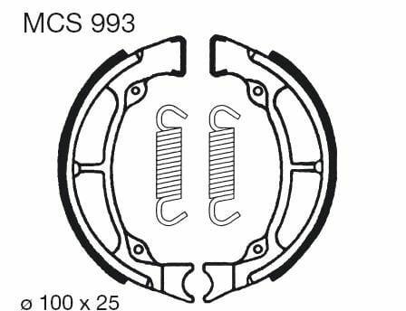Obrázek produktu Brzdové čelisti LUCAS Zadní Super Cab