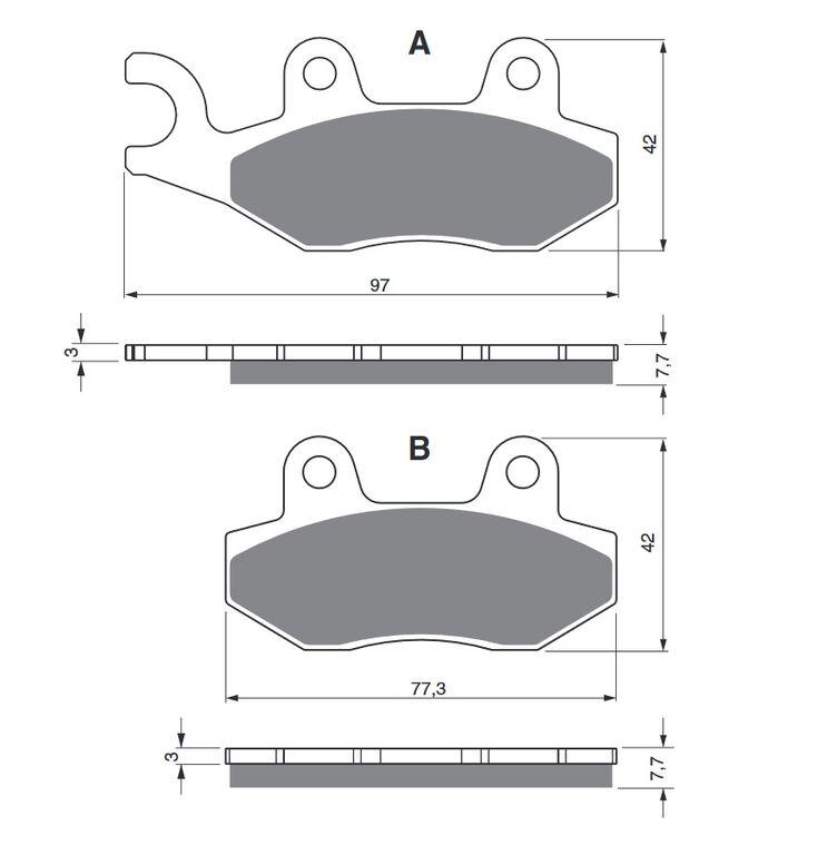 Obrázek produktu Brzdové destičky GOLDFREN S3 Levá