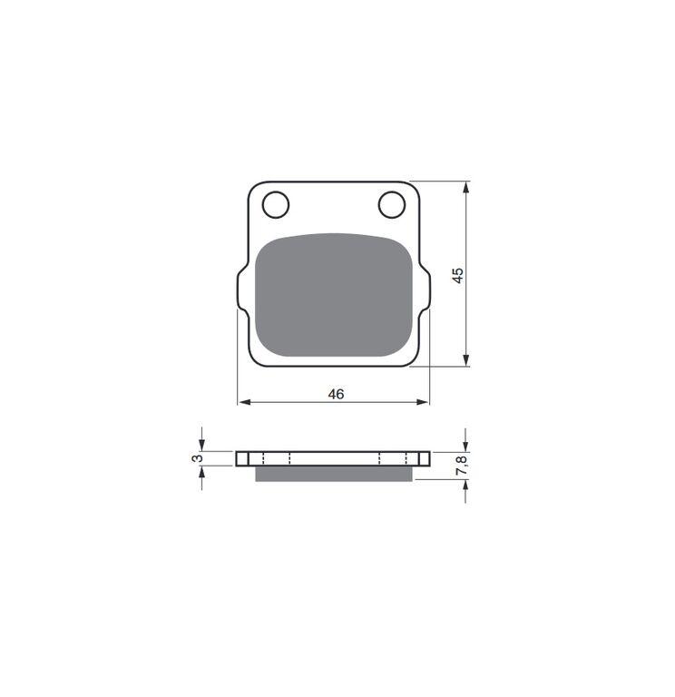 Obrázek produktu Brzdové destičky GOLDFREN K5
