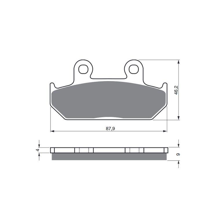 Obrázek produktu Brzdové destičky GOLDFREN S3