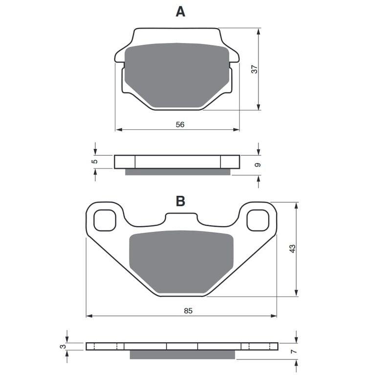 Obrázek produktu Brzdové destičky GOLDFREN AD