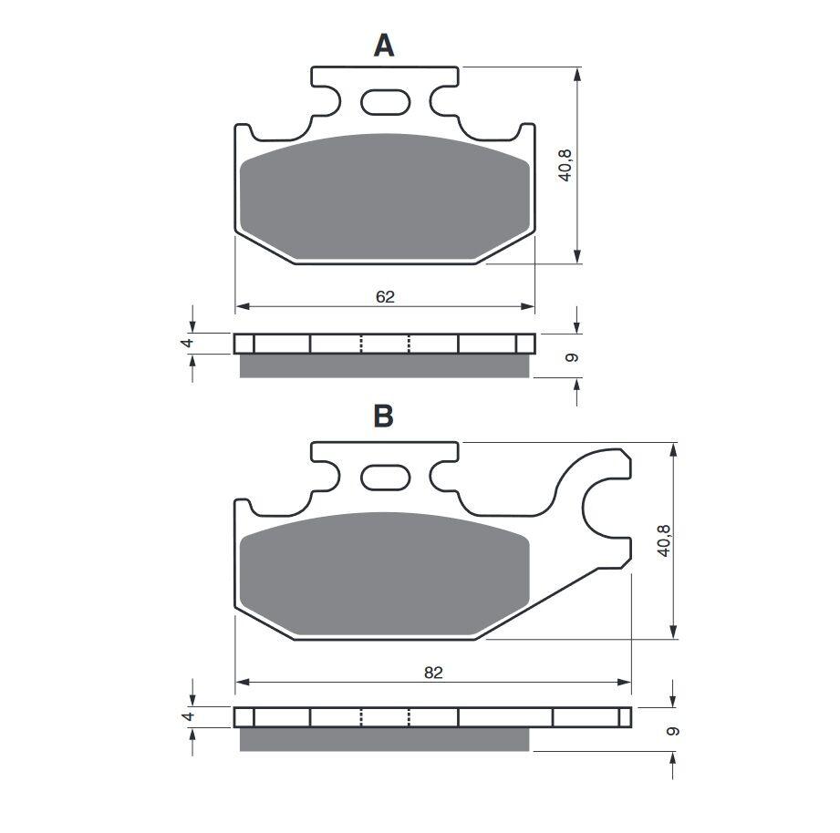 Obrázek produktu Brzdové destičky GOLDFREN AD Levý kotouč