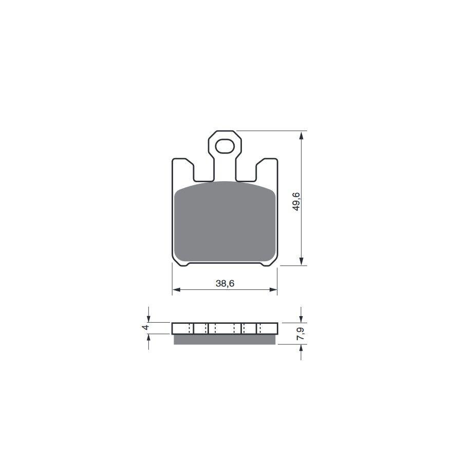 Obrázek produktu Brzdové destičky GOLDFREN S3 (4ks v sadě)
