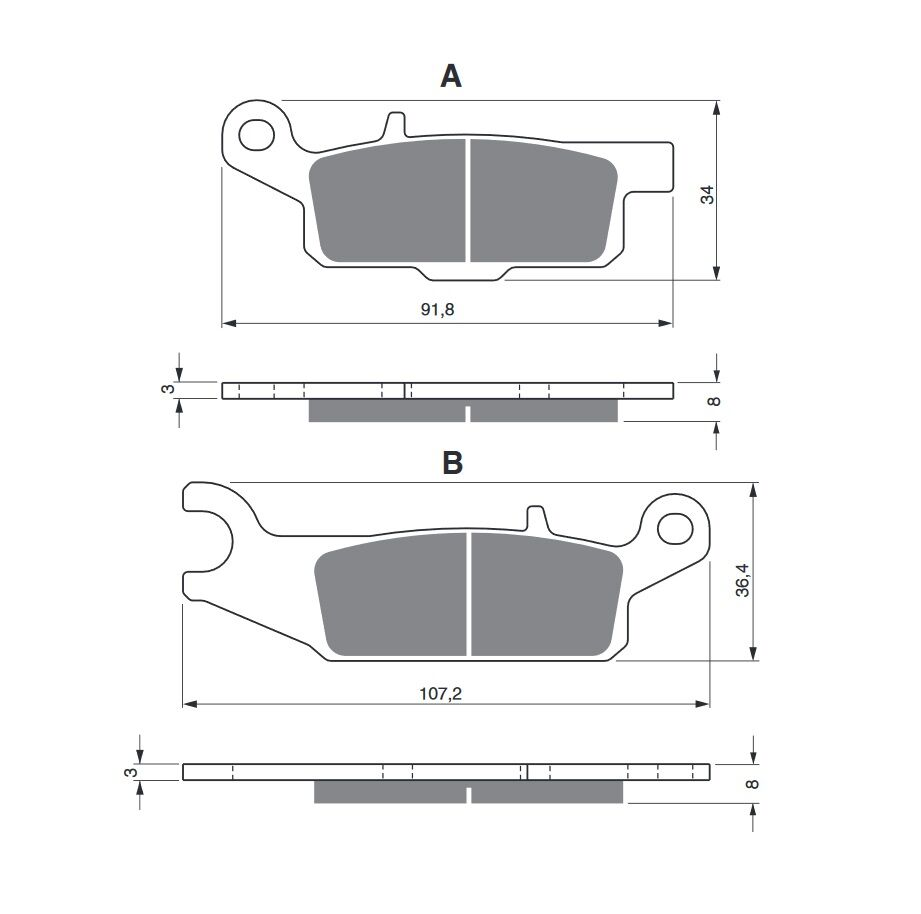 Obrázek produktu Brzdové destičky GOLDFREN S3 Pravá