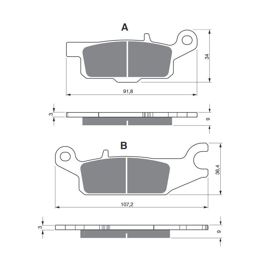 Obrázek produktu Brzdové destičky GOLDFREN K5 Levá