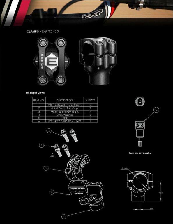 Obrázek produktu Objímky řidítek EASTON EXP EXP Odsazení