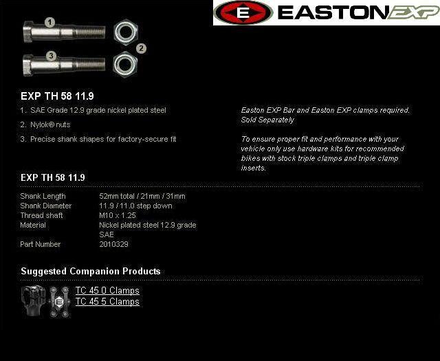Obrázek produktu Montážní sada řidítek EASTON EXP EXP