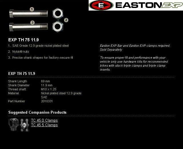 Obrázek produktu Montážní sada řidítek EXP