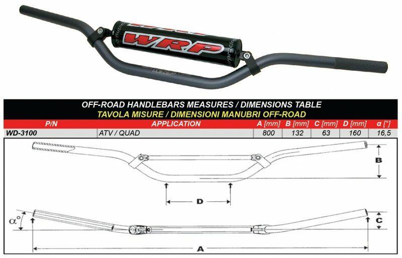 Obrázek produktu Řídítka WRP PRO-TECH ATV/QUAD Tmavě šedý
