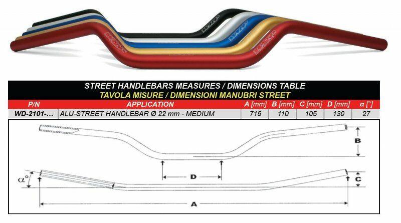 Obrázek produktu Řídítka WRP ALU-STREET střední červená