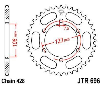 Obrázek produktu Řetězová rozeta JT 50 zubů, 428