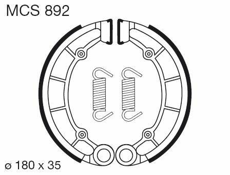Obrázek produktu Brzdové čelisti LUCAS Zadní  KLF - C Bayou