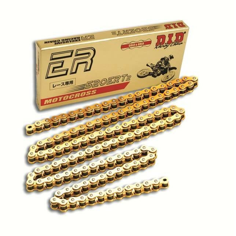 Obrázek produktu Motokrosový řetěz D.I.D Chain 520ERT2 112 L Zlatá/Zlatá
