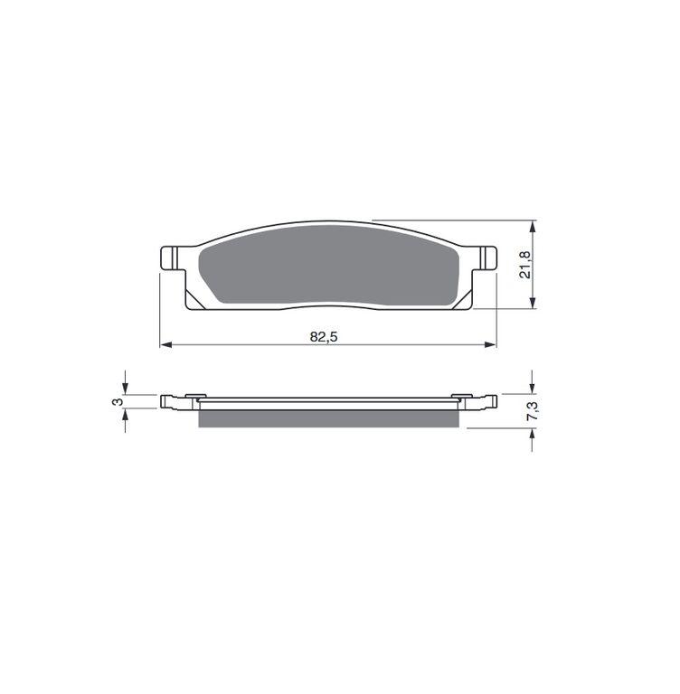 Obrázek produktu Brzdové destičky GOLDFREN S33 OFF-ROAD FRONT